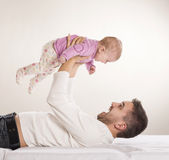 Fader med barnet Royaltyfria Foton
