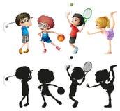 Barn som gör olika sportar Royaltyfri Foto