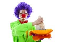 Barn som kläs som rolig clown Royaltyfri Foto