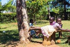 barn som leker utomhus Royaltyfria Foton