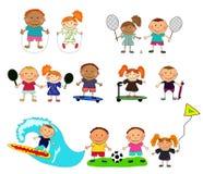 barn som leker vektorn Arkivfoto