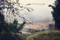 barn som leker vietnames Fotografering för Bildbyråer