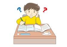 Barn som studerar vektorbild stock illustrationer