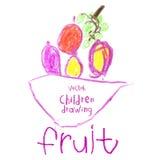 barn som tecknar husberg Fotografering för Bildbyråer