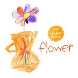 barn som tecknar s Royaltyfria Foton