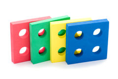 barn stänger upp den geometriska toyen Arkivbild