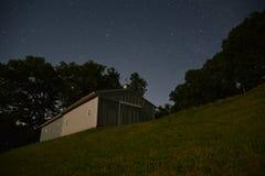 Barn in the Stars Stock Photo