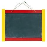 Barn stiger ombord, blackboarden, whiteboarden, blackboard Arkivbilder