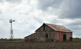 Barn storm. Rural farm Royalty Free Stock Photography
