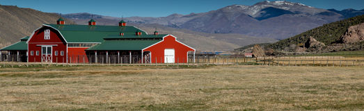 Barn Style building in Utah. This photo was taken in Utah Royalty Free Stock Photo