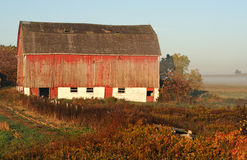 Barn after sunrise Stock Image