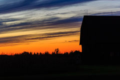 Barn Sunset Royalty Free Stock Photo