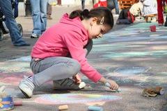 barn tecknar royaltyfri fotografi