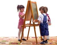 barn tecknar arkivfoton