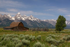 Barn in Tetons National Park Royalty Free Stock Photography
