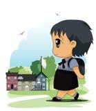 Barn till skolan Royaltyfri Foto