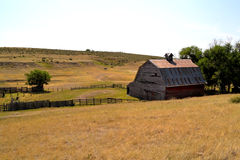 Barn from top of hill Royalty Free Stock Image