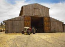Barn and tracktor Royalty Free Stock Image