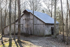 Barn among trees. Barn in rural area among trees Royalty Free Stock Photography