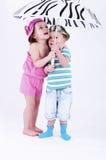 barn två Royaltyfria Bilder