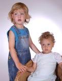 barn två Fotografering för Bildbyråer
