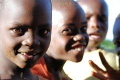 barn uganda Arkivbild