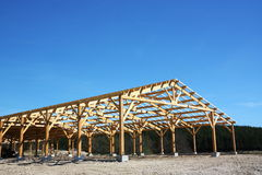 Barn Under Construction Royalty Free Stock Photography
