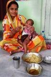 barn undernärda india Royaltyfria Bilder
