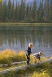 barn utomhus Royaltyfri Fotografi