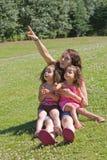 barn vår teaching Arkivfoto