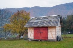 Barn in the village Royalty Free Stock Photography