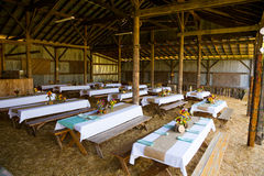 Barn Wedding Reception Detail Stock Photography