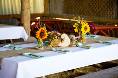Barn Wedding Reception Detail Royalty Free Stock Photography