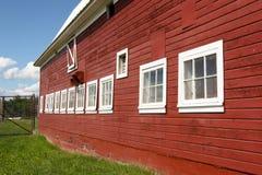 Barn with White Windows Stock Photos