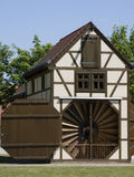 Barn-Windmill-Saalow Royalty Free Stock Photo
