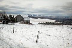Barn in winter Stock Image