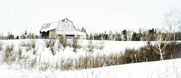 Barn in winter Stock Photos