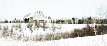 Barn in winter Stock Photos