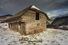 Barn in the winter Stock Photography