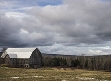Barn in Winter royalty free stock images