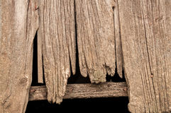 Barn wood. Old weathered and decaying barn wood on an old abandoned homestead stock photo