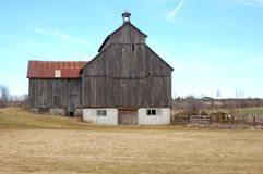 Barn in wood and steel 2 Stock Photos
