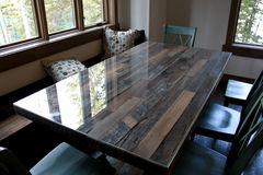 Barn Wood Table Stock Images