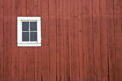 Barn wood texture. Red barn wood texture with single window Royalty Free Stock Photos
