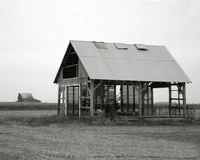 Barn2. Black and white image of a dilapidated farm building stock photography