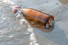 Barnacle catch bottle Royalty Free Stock Image