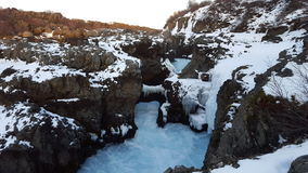 Barnafoss Island vattenfall Royaltyfri Foto