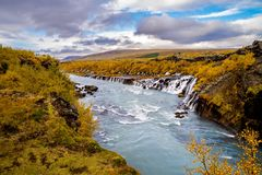Barnafoss waterfall in Iceland Royalty Free Stock Photography