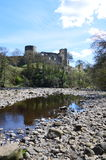 Barnard Castle. From river, Teasdale, UK. Photo taken April 2015 Royalty Free Stock Photo