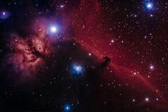 Barnard 33 - die Horsehead-Nebelflecke Stockbilder